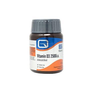 Quest Vitamin D3 2500iu 60 Tablets