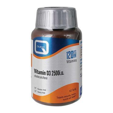 Quest Vitamin D3 2500iu 120 Tablets
