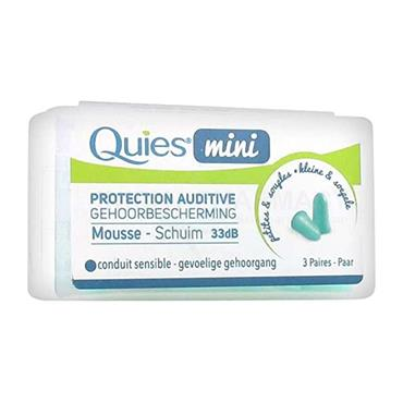 Quies MINI Foam Earplugs 3 Pairs