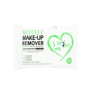 Revuele Make Up Remover Wet Wipes For Sensitive Skin 20 Pack