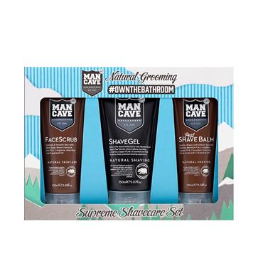 Man Cave Natural Grooming Supreme Shavecare 3 Piece Gift Set