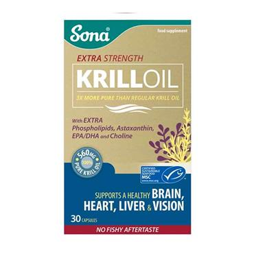 Sona Extra Strength Krill Oil 30 Capsules