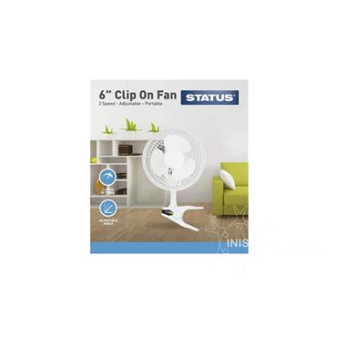 Status Clip-On Fan White 6 inch