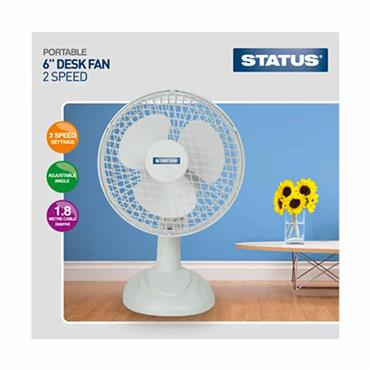 Status Desk Fan White 6 inch
