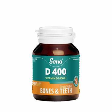 Sona D400 Vitamin D3 400iu 90 Tablets