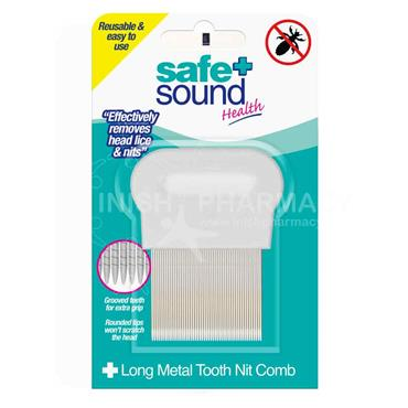 Safe & Sound Long Tooth Metal Nit Comb