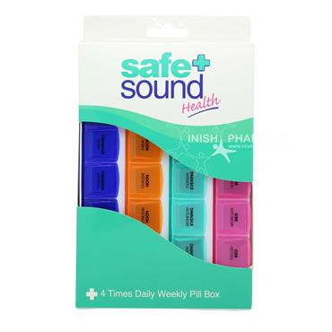 Safe & Sound 4 Times Daily Weekly Pill Box