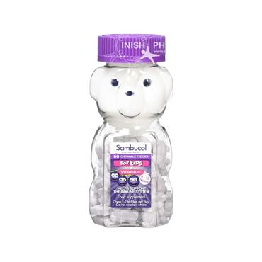Sambucol Chewable Teddies For Kids 60 Pack