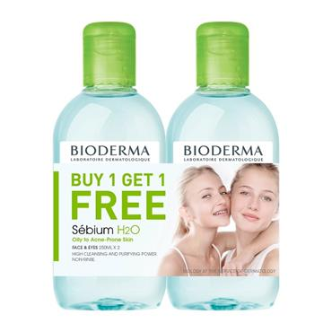 Bioderma Sebium H2O Micellar Solution BOGOF 2 x 250ml