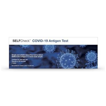 SELFCheck Covid 19 Antigen Tests 2 Pack