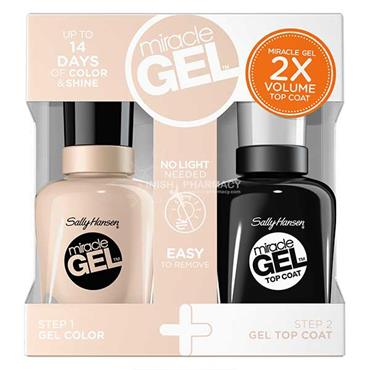 Sally Hansen Miracle Gel 110/201 Birthday Suit Polish & Top Coat Value Pack