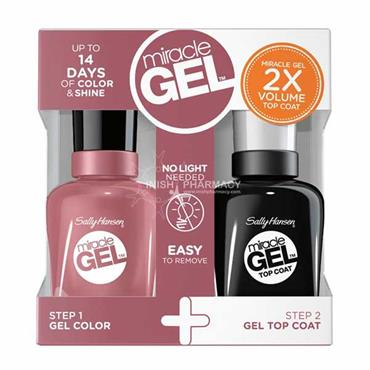 Sally Hansen Miracle Gel 811 Make Me Mauve Polish & Top Coat Value Pack
