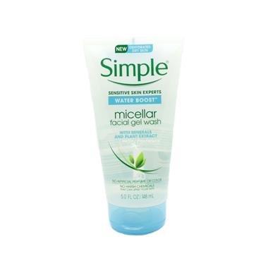 Simple Water Boost Micellar Facial Gel Wash 148ml