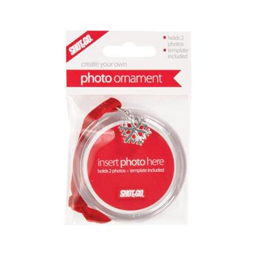 Shot2Go Jangle Christmas Photo Ornament - Snowflake