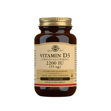 Solgar Vitamin D3  2200 IU 100 Capsules