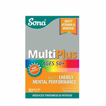 Sona MultiPlus Multivitamin and Multimineral 50 plus 30 Tablets