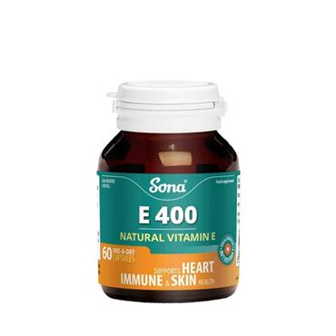 Sona E400 Vitamin E 60 Capsules