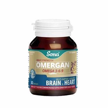Sona Omergan Omega 369 1200mg 30 Capsules