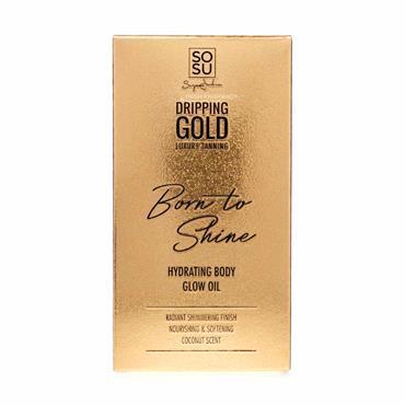 SOSU Dripping Gold Born to Shine Hydrating Body Glow Oil 50ml