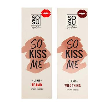 SOSU So Kiss Me Lip Kit Te Amo/Wild Thing Twin Pack