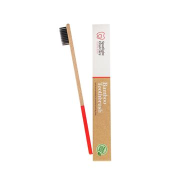 Spotlight Oral Care Bamboo Toothbrush Red