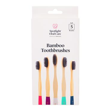 Spotlight Oral Care Bamboo Toothbrush 5 Pack