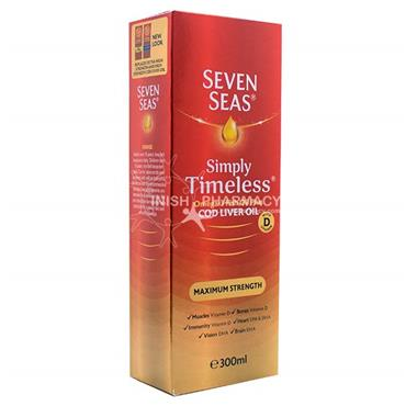Seven Seas Simply Timeless Maximum Strength Cod Liver Oil 300ml