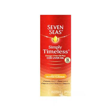 Seven Seas Simply Timeless Cod Liver Oil Orange Flavour 300ml