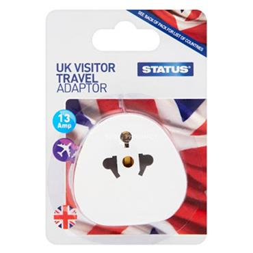 Status Ireland or UK Visitor Travel Adapter