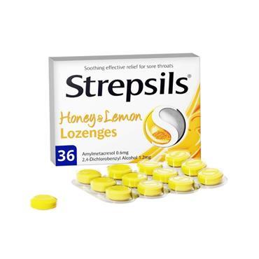 Strepsils Honey & Lemon Lozenges 36 Pack