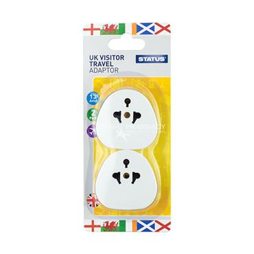 Status Ireland or UK Visitor Travel Adaptor Twin Pack 240V