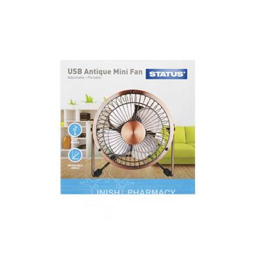 Status USB Antique Wire Mini Fan 4 inch