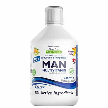 Swedish Nutra Man Active 50+ Multivitamin 500ml