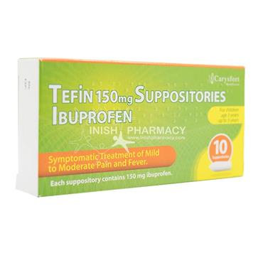 Tefin 150mg Ibuprofen Suppositories 10 Pack