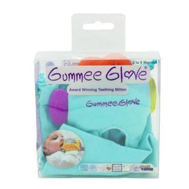 Gummee Glove Teething Mitten 3 - 6 Months Turquoise