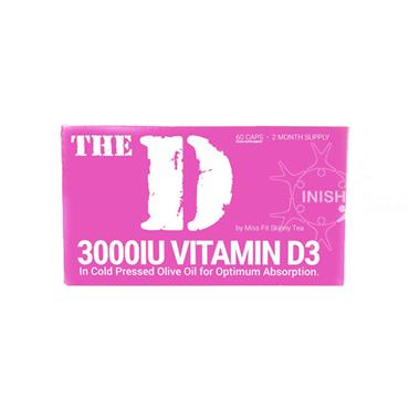 The D- 3000IU Vitamin D3 By Miss Fit Skinny Tea 60 Capsules