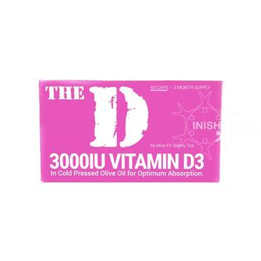The D- 3000IU Vitamin D3 By Miss Fit Skinny Tea 60 Capsules
