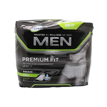 Tena Men Premium Fit Protective Underwear Level 4 Maxi Medium 10 Pack