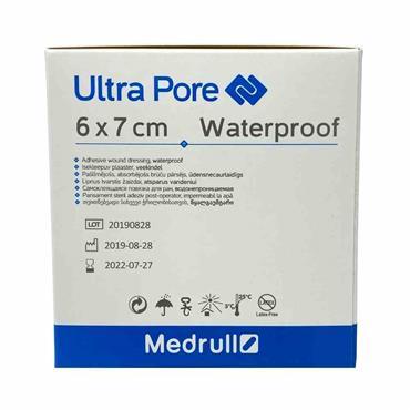 Medrull Ultra Pore Waterproof Wound Dressing 6 x 7cm 50 Box