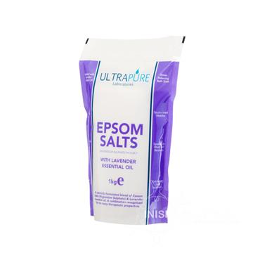 Ultrapure Epsom Salts With Lavender Essential Oil 1kg