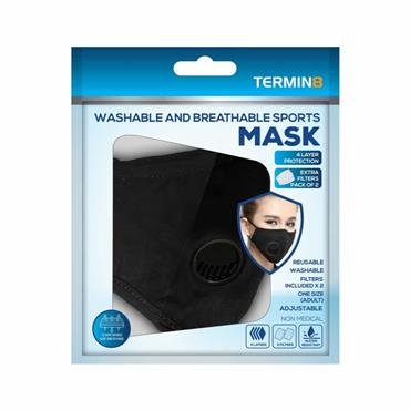 Reusable 4 Layer Face Mask With Valve & 2 Filters