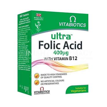 Vitabiotics Ultra Folic Acid 400ug 60 Tablets