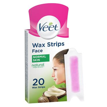 Veet Natural Inspirations Facial Wax Strips 20 Pack