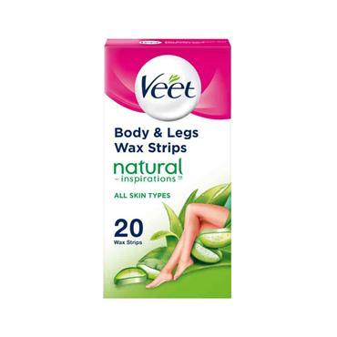 Veet Wax Strips Natural Inspirations Normal Skin 20 Pack
