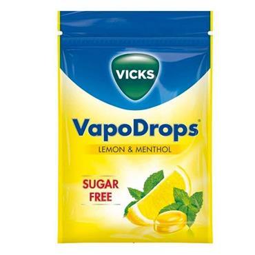Vicks VapoDrops Sugar Free Lemon & Methol