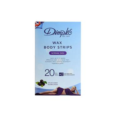 Dimples Wax Body Wax Strips Normal Skin 20 Pack