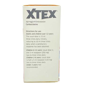 Xtex Carbocisteine 250mg/5ml Oral Solution Sugar Free 200ml