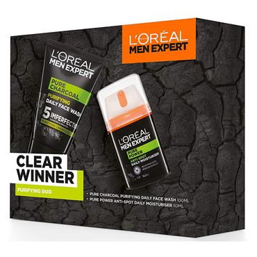 L'Oreal Men Expert Clear Winner Purifying Duo 2 Piece Set