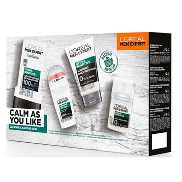 L'Oreal Men Expert Calm As You Like Sensitive 4  Piece Giftset