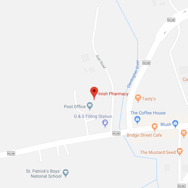 Inish Pharmacy Carndonagh store location map